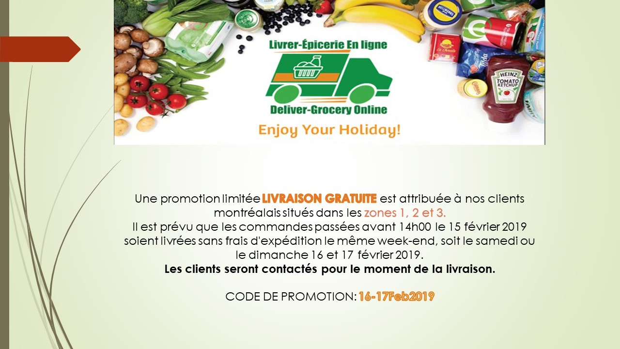 Weekend Promotion 16 & 17 Feb 2019 in French
