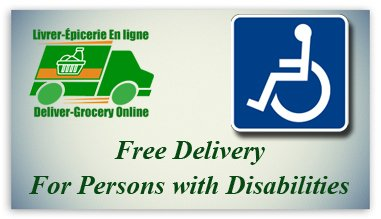 Free delivery for persons with disabilities